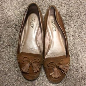 DLNY brown suede loafers size 8.5